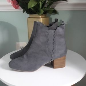 lane Bryant scalloped ankle boots nwob